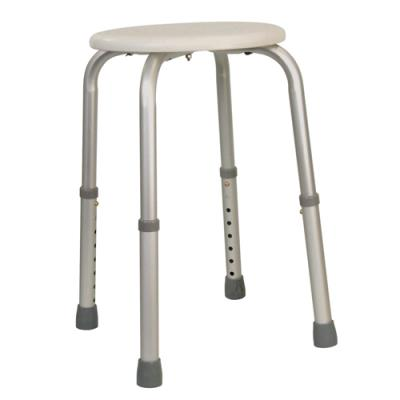 Round Height Adjustable Shower Stool