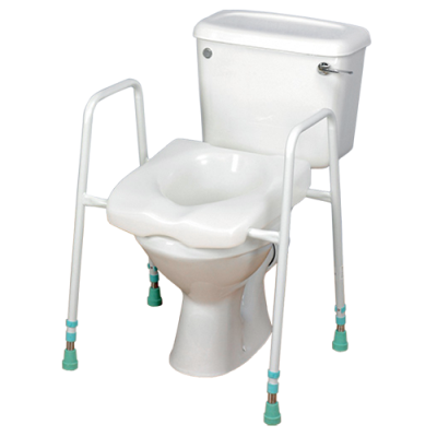 Height Adjustable Framed Toilet Raiser