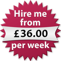 Hire me from £36.00 per week