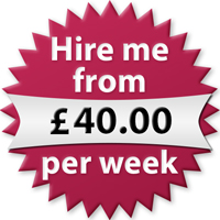 Hire me from £40.00 per week
