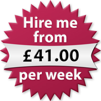 Hire me from £41.00 per week