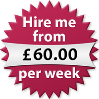 Hire me from £60.00 per week