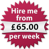 Hire me from £65.00 per week