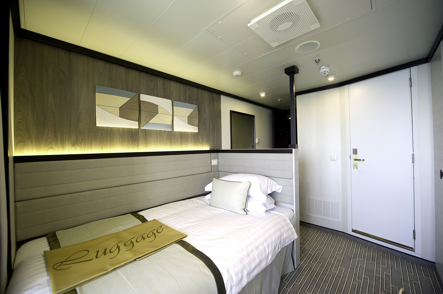 One of the Solo Cabins on Britannia Cruise Ship